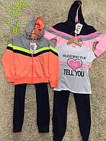 Трикотажный костюм - тройка для девочек S&D, 116-146  лет.  Артикул: CH6070