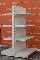 Торгові стелажі острівні (двосторонні) «Маго» 170х100 див. (Польща), білі, Б/в, фото 1