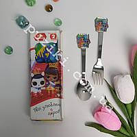 Подарочный детский набор столовых приборовЛОЛ с животными