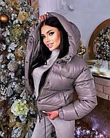 Осенняя  женская  куртка из эко-кожи силикон 200 новинка 2021, фото 1