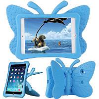 Чехол противоударный детский с ручками ipad mini BATTERFLY blue