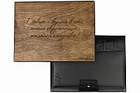 Шкіряний іменний блокнот А5 чорного кольору