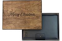 Шкіряний іменний блокнот А5 сінього кольору