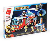 Конструктор Qman Пожарная машина 647 дет.