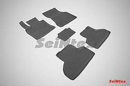 Коврики в салон Seintex резиновые BMW X5 (F15) 13-18/X6 (F16) 2014-2019 (кт 5 шт.)