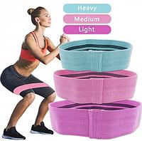 Набор тканевых резинок для фитнеса LUTING (эспандеры резинки для фитнеса), 3 шт