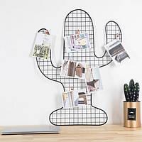 Настенный органайзер Кактус Мудборд (moodboard) доска визуализации и планирования, 40*48 см, черный