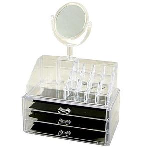 Акриловий органайзер для косметики з дзеркалом настільний GW 666, фото 2