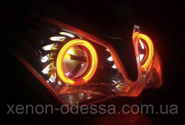 """Маска для ксенонових лінз 2.5"""" : F2 Transformers c Ангельськими Очками LED"""