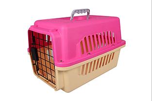 Переноска AnimAll A1104 для кошек и собак 47х31х30 см розовая