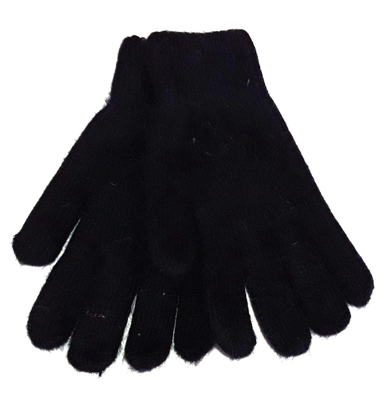 Перчатки Корона вязка двойные (7-8,5), черные