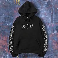 Худи XXXTENTACION толстовка черная с принтом на рукавах X?17