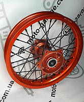 Диск колесный задний спицованный, 2.15*16 DOT оранжевый GEON  Terra-X 250
