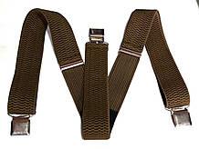 Підтяжки для штанів ширина 4 см гірчичні