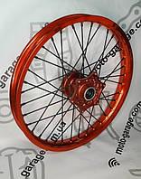 Диск колесный передний спицованный 1.6*19 DOT оранжевый  GEON Terra-X 250