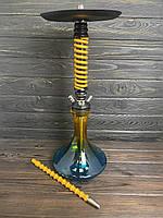 Кальян Mamay Custom Coilovers (Мамай кастом) - жовта пружина Craft двоколірна і шланг