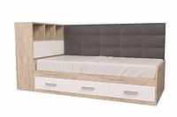 """Ліжко """"Еллі"""" з коробом /Шервуд/Білий"""