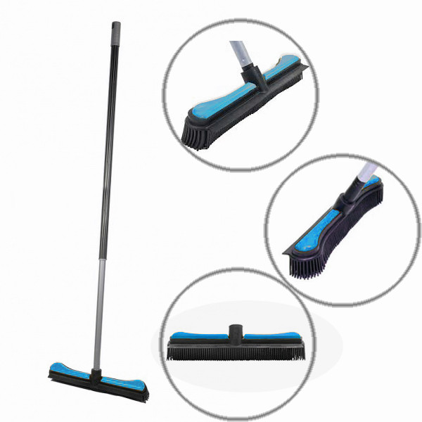 Каучуковая щетка «Комфорт» (для пола) Sweepa голубая