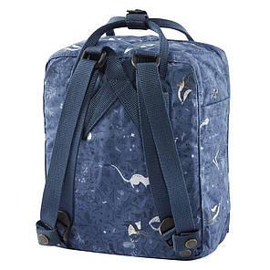 Рюкзак Fjallraven Kanken Синій з малюнком, фото 2