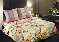 """Качественные семейные комплекты постельного белья, ткань поплин хлопок 100%,  """"Утренный сад"""""""