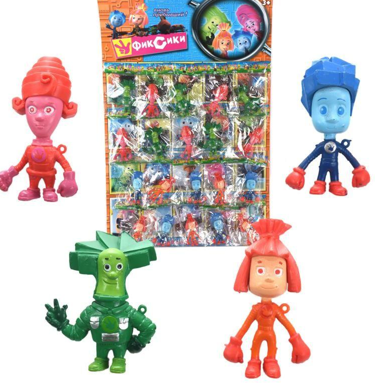 Игровые фигурки Фиксики набор героев 20 шт. на листе