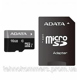 Карта пам'яті A-DATA microSDHC Premier 16GB Class 10 UHS-I W-90MB/s R-95MB/s +SD-адаптер