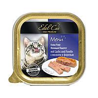 Edel Cat 100 г * 16 шт паштет лосось і форель)