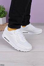 Женские кроссовки белые эко-кожа+ текстиль