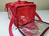Термосумка для пиццы с полочкой на каркасе из ПВХ ткани. Застежка молния, фото 5