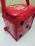 Термосумка для пиццы с полочкой на каркасе из ПВХ ткани. Застежка молния, фото 7