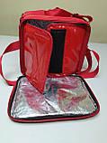 Термосумка для пиццы с полочкой на каркасе из ПВХ ткани. Застежка молния, фото 8