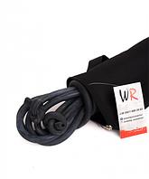 Жгут борцовский 18 мм (5м) черный в комплекте с чехлом