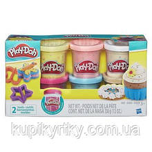 Набор для творчества Hasbro Play-Doh 6 баночек с конфетти (B3423)