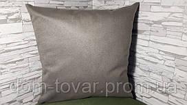 Наволочка декоративная 45х45 серо-коричневая