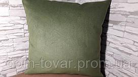 Наволочка декоративная 45х45 зеленая