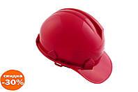 Каска будівельна Intertool - червона 1 шт.