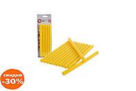 Клеевые стержни Intertool - 11,2 х 200 мм, желтые 1 шт.