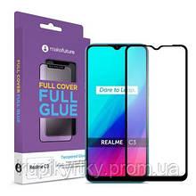 Стекло защитное MakeFuture Realme C3 Full Cover Full Glue (MGF-RC3)