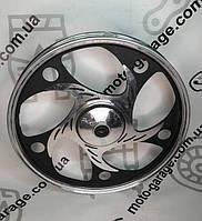 Диск передний литой под барабан 1,4-17  ALPHA черный (ось 12мм)