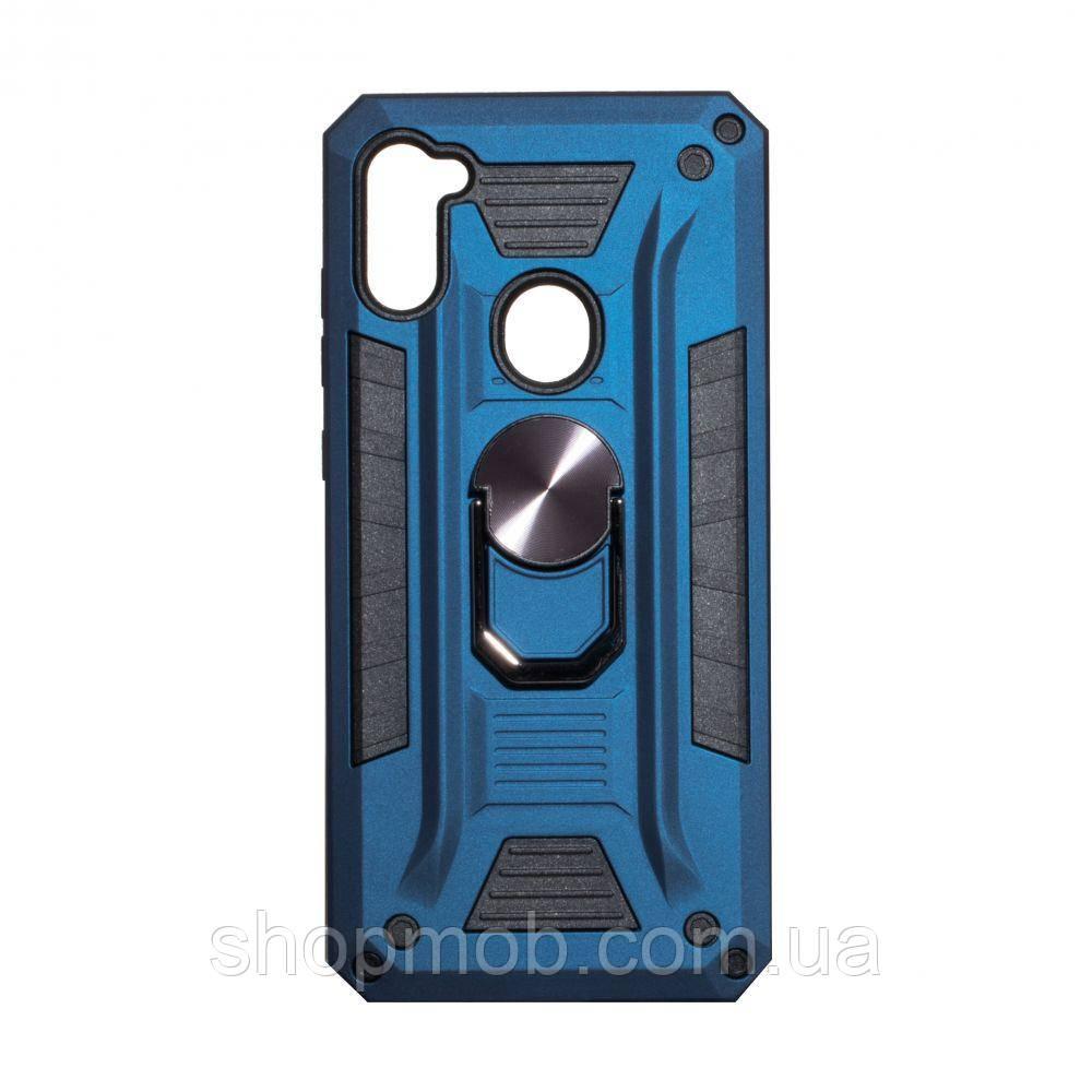 Чехол Robot Case with ring for Samsung A11/M11 Цвет Тёмно-Синий