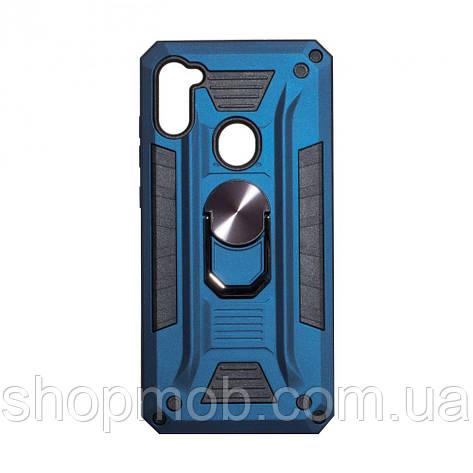 Чехол Robot Case with ring for Samsung A11/M11 Цвет Тёмно-Синий, фото 2