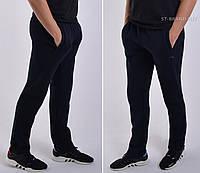Размеры: 52/54/56. Утепленные мужские спортивные штаны ST-BRAND / Трикотаж трехнитка - темно-синие