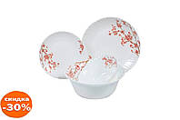 """Набор посуды жар-стекло Maestro - 19 ед. """"розовые цветы"""" 1 шт."""
