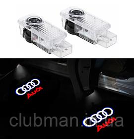 Проектор подсветка логотипа для дверей Audi A3 A4 A6 A7 A8 Q7 Q3 RS4 RS5 RS6 S3 S4 S5 S6 TT TTS