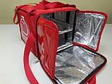 Термосумка для пиццы с полочкой на каркасе из ПВХ ткани. Застежка молния, фото 6