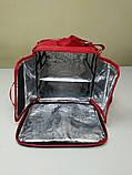 Термосумка для пиццы с полочкой на каркасе из ПВХ ткани. Застежка молния, фото 4