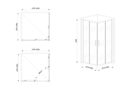 Стеклянная душевая кабина AVKO Glass 1421, 190х90х90 Clear, фото 2