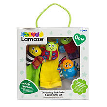 Набор для детей: погремушки на запястья и носочки с погремушками