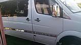 Volkswagen Crafter 2006-2017 гг. Молдинги на дверь (нерж.) ExtraLong. Carmos - Турецкая сталь, фото 4