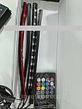 Светодиодная подсветка для авто водонепроницаемая RGB led HR-01678 8 цветов 4 ленты, фото 5